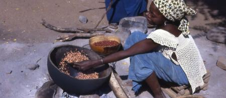 Food preparation in Senegal