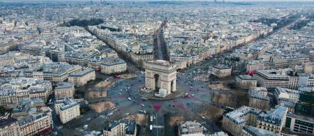 Aerial view of Paris, France.