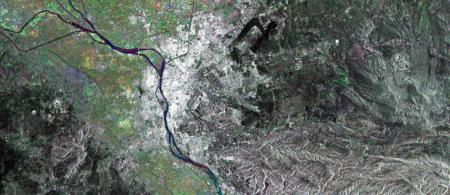 a satellite image shows the Nile Delta