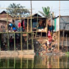 Stilt houses in Bangladesh